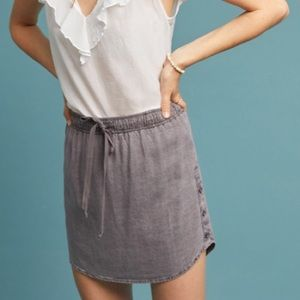 Anthropologie Cloth and Stone Skirt in Gray Size S